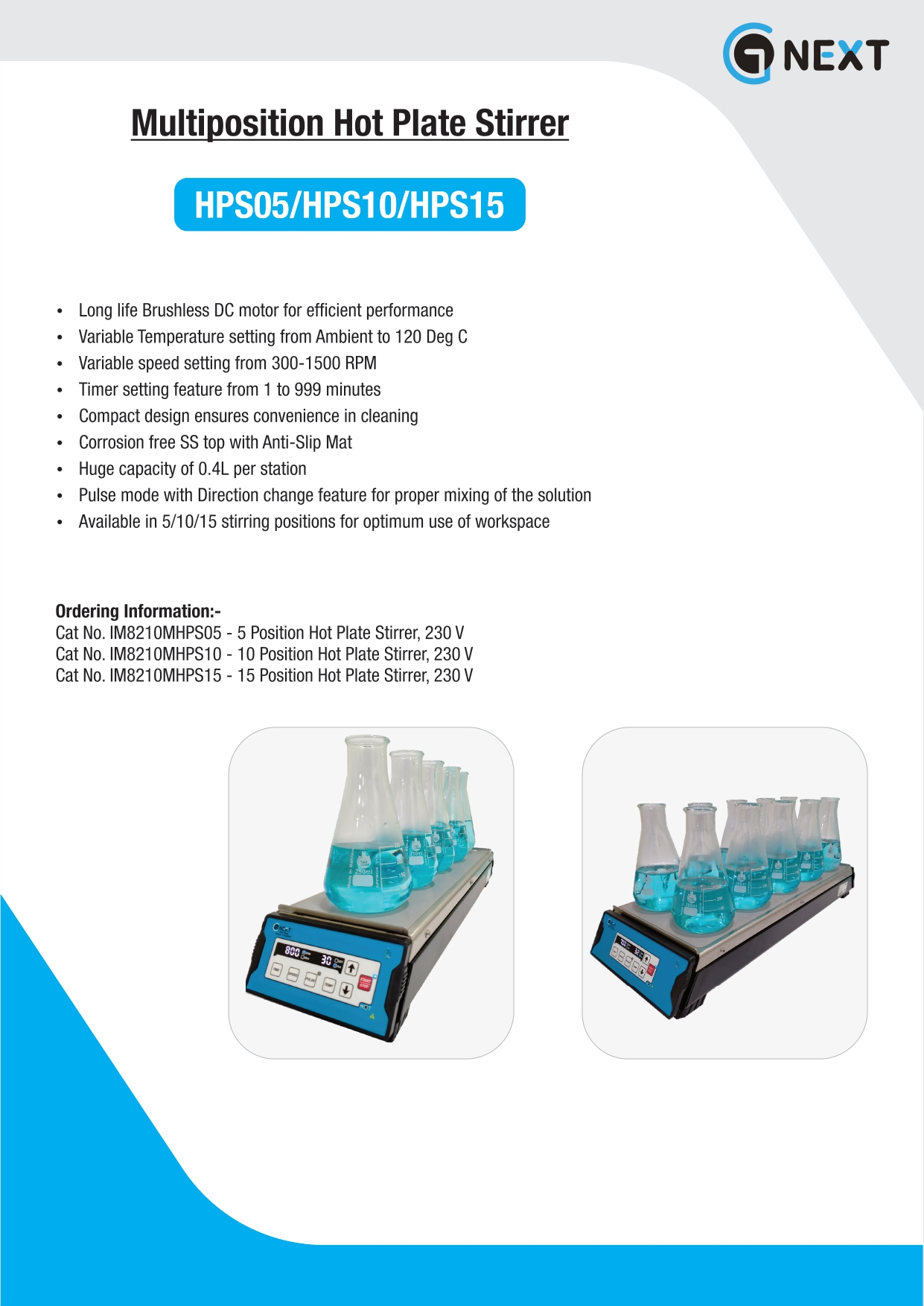 Multi Position Hot Plate Stirrers