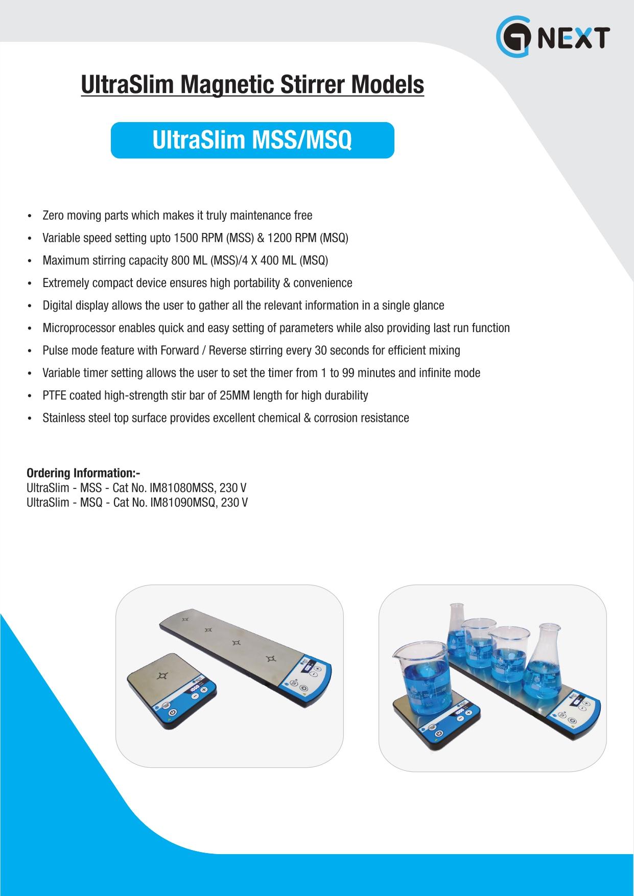Ultra Slim Magnetic Stirrers